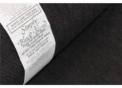 "Simply Black Quilt Wadding - 96"" wide x 18.3m long bolt - 60% Cotton, 40% Polyester"